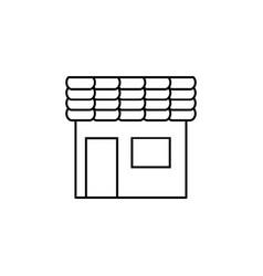 store line icon black vector image