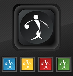 Summer sports basketball icon symbol Set of five vector image