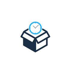 Time box logo icon design vector