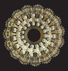 tribal ancient gold greek mandala pattern ornate vector image
