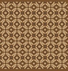 unique art work flower motifs on kawung batik vector image