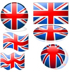 united kingdom flags vector image