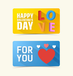 Valentines day horizontal banners vector