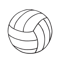 Volleyball outline vector
