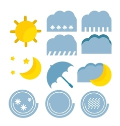 Weather forecast color baby cute icon vector