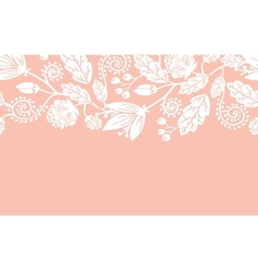 Wedding flowers and leaves horizontal seamless vector image