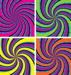 acid swirls vector image vector image