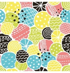 Cute seamless pattern with decorative rounds vector image vector image