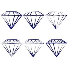 diamond symbols set vector image
