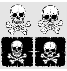 Set of Skull and Crossbones vector image vector image