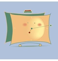 Yellow cartoon alarm clock vector