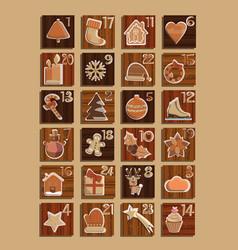adventcalendar twentyfour christmas asset vector image