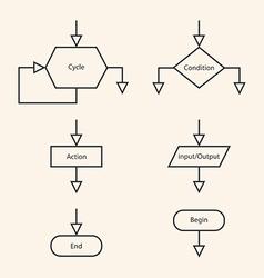 blocks of block diagram vector image