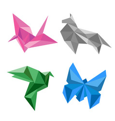 design of origami paper animal vector image vector image