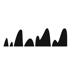 equalizer tune radio icon simple black style vector image vector image