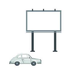 flat passenger car billboard icon set vector image