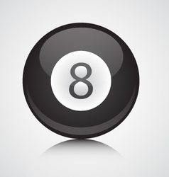 isolated eight ball vector image vector image