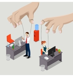 Isometric People Office Puppets vector image