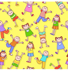 kids pattern vector image