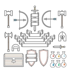 Medieval Symbols and Banners vector image vector image