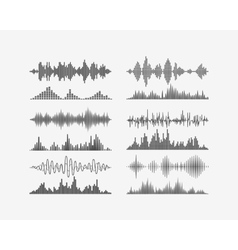 Radio frequency digital waves forms vector image