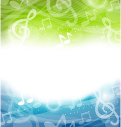 Background with Musical Elements vector image