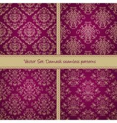 Damask festive seamless goden pattern vector image