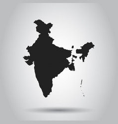 india map icon flat india sign symbol with vector image