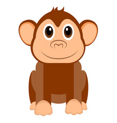 isolated cute monkey vector image