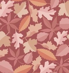 leaves marsala pattern vector image vector image