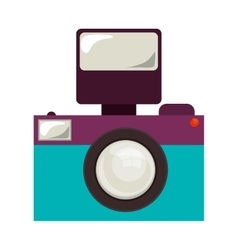 retro photographic camera vector image