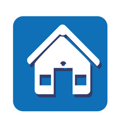 Square button facade house icon design vector