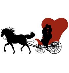 wedding carriage vector image vector image