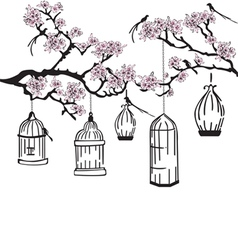 garden with feeders vector image