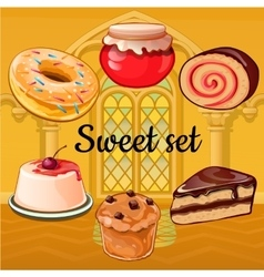 Set of baking and pastry vector image vector image