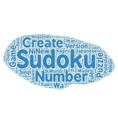 The History of Sudoku text background wordcloud vector image vector image