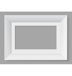 White frame isolated on grey background vector image