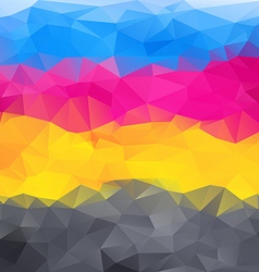 Abstract background in cmyk colors vector