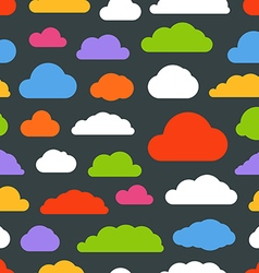 Abstract color clouds seamless pattern vector image