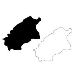 al-qassim region map vector image