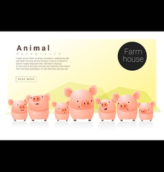 Animal banner with Pigs for web design 1 vector image