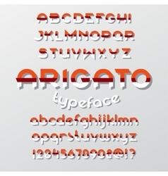 Arigato color typeface vector image