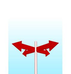 arrows and sky vector image