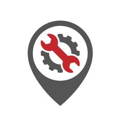 Auto pin car point automotive logo design template vector