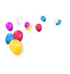 balloons isolated realistic balloons vector image