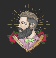 barber man vector image