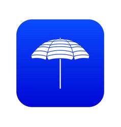 Beach umbrella icon digital blue vector