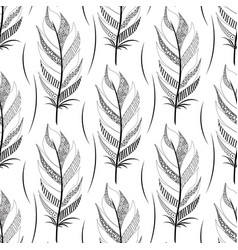 black contoured wide feather pattern vector image