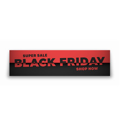 black friday sale 3d banner typographic modern vector image