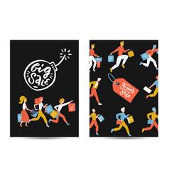 black friday vertical a4 poster or baner set flat vector image